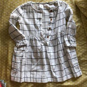 Plaid toddler girl dress